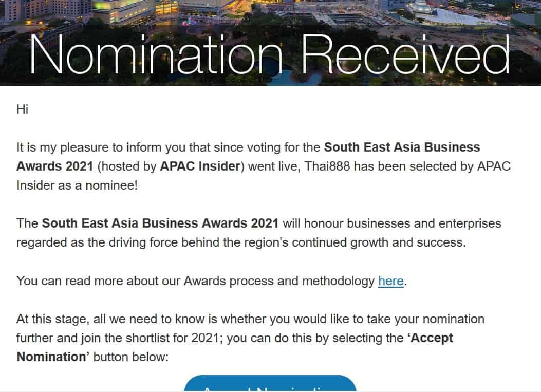 APAC south east Asian Business Award 2021